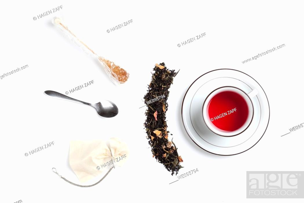 Stock Photo: a cup of tea.