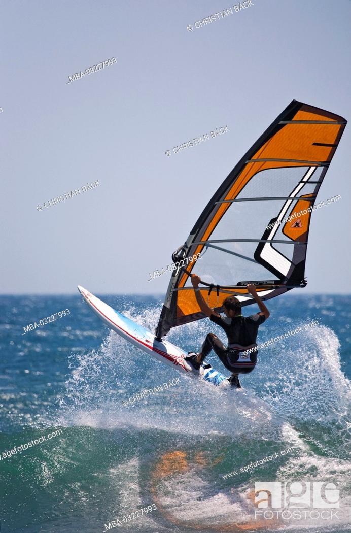 Wind Surfer At The Mediterranean Sea La Couronne Provence