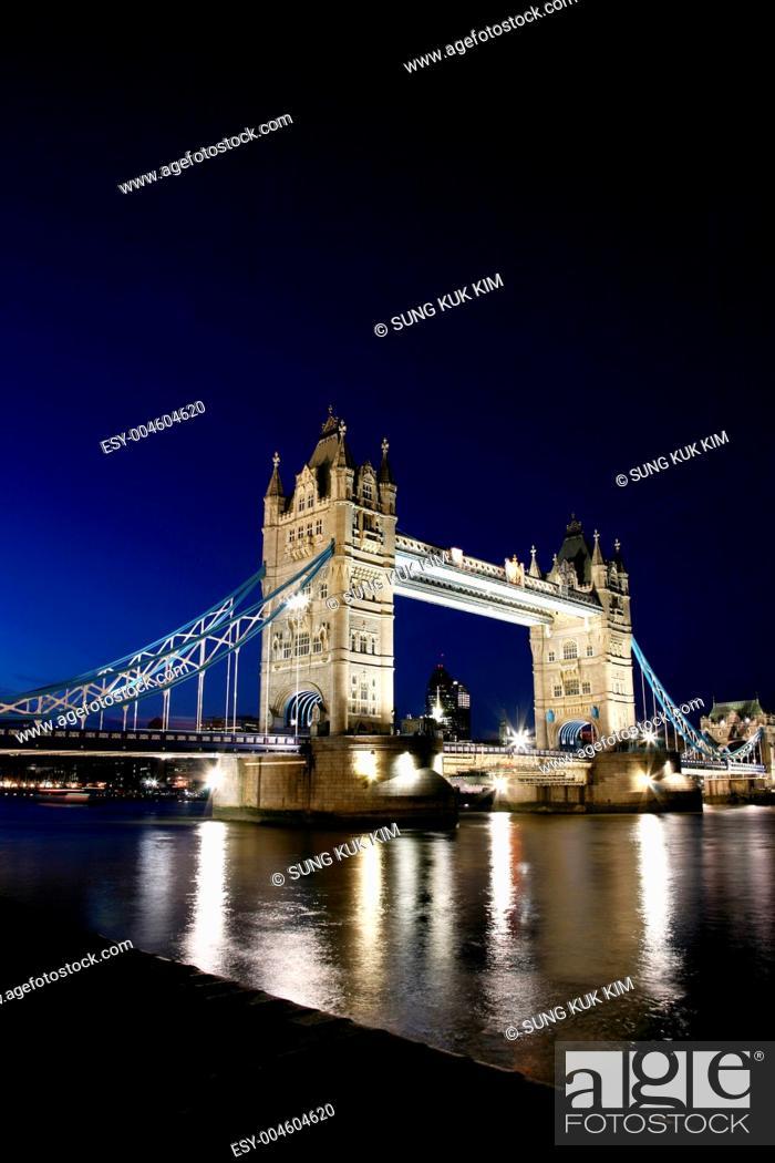 Stock Photo: Tower Bridge at Night.