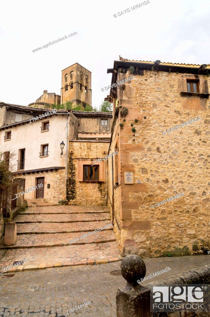 Stock Photo: Iglesia de San Salvador, Sepúlveda. Conjunto histórico. Segovia province. Castile-Leon. Spain.