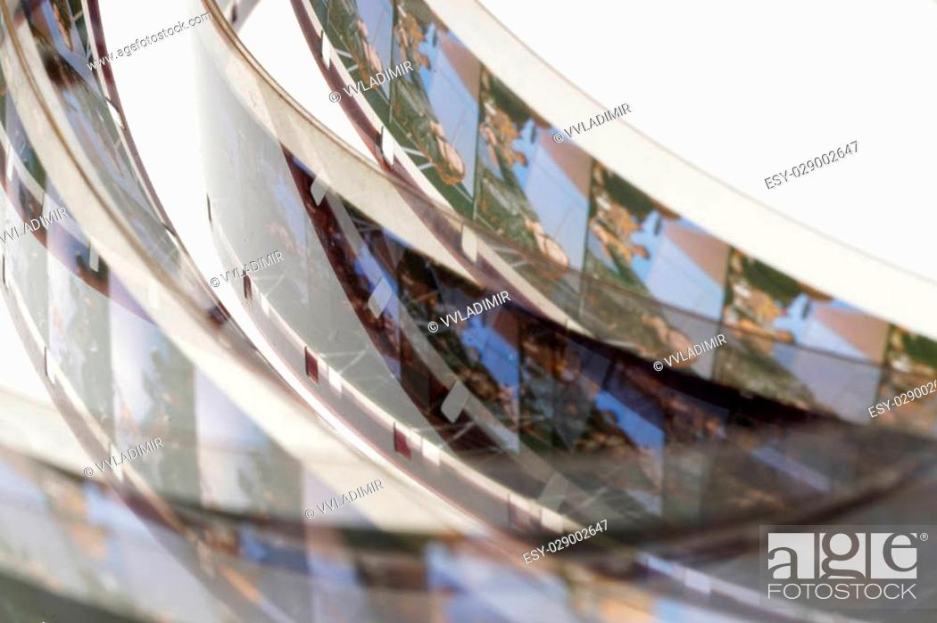 old positive 16 mm film strip on white background strip of tangled movie film place for copy and stock photo picture and low budget royalty free image pic esy 029002647 agefotostock 2