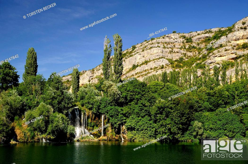 Stock Photo: Roški Slap, waterfall, Krka National Park, Sibenik-Knin County, Dalmatia, Croatia.