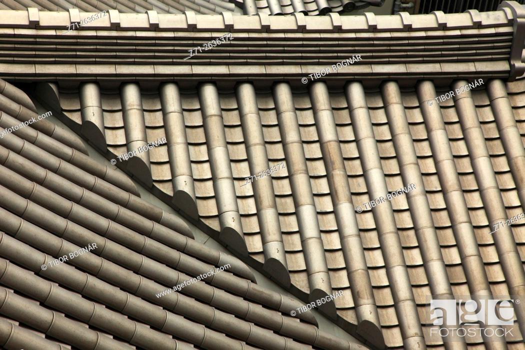Imagen: Japan, Tokyo, Kabukiza Theatre, roof, tiles, architecture detail, .