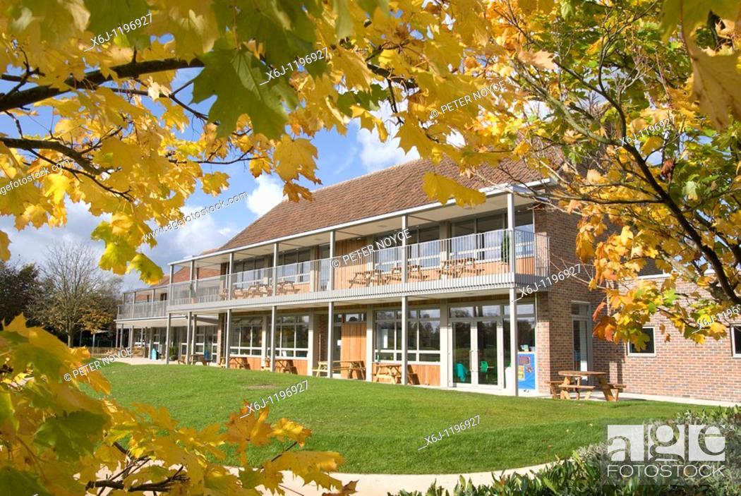 Stock Photo: Burnham Copse Primary School.