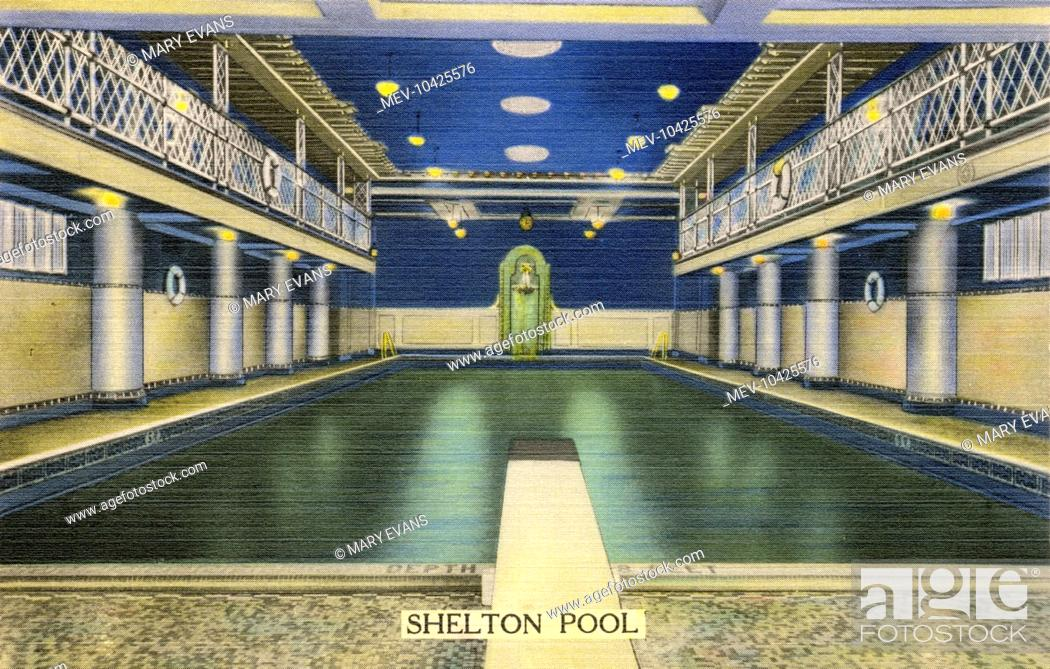 Stock Photo: Swimming Pool at the Shelton Hotel on Lexington Avenue, New York City, America.