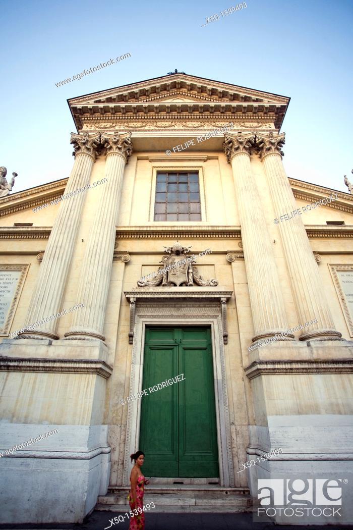 Stock Photo: Facade of San Rocco church, Rome.