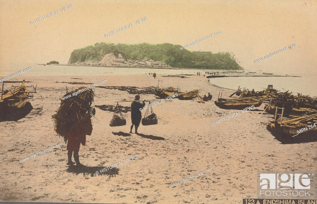 Stock Photo: Enoshima Island. Pacific pursuits : Postcards Japan - A-Z. Date Issued: 1901 - 1907 Place: s.l. Publisher: s.n. Eno Island (Kanagawa-ken.