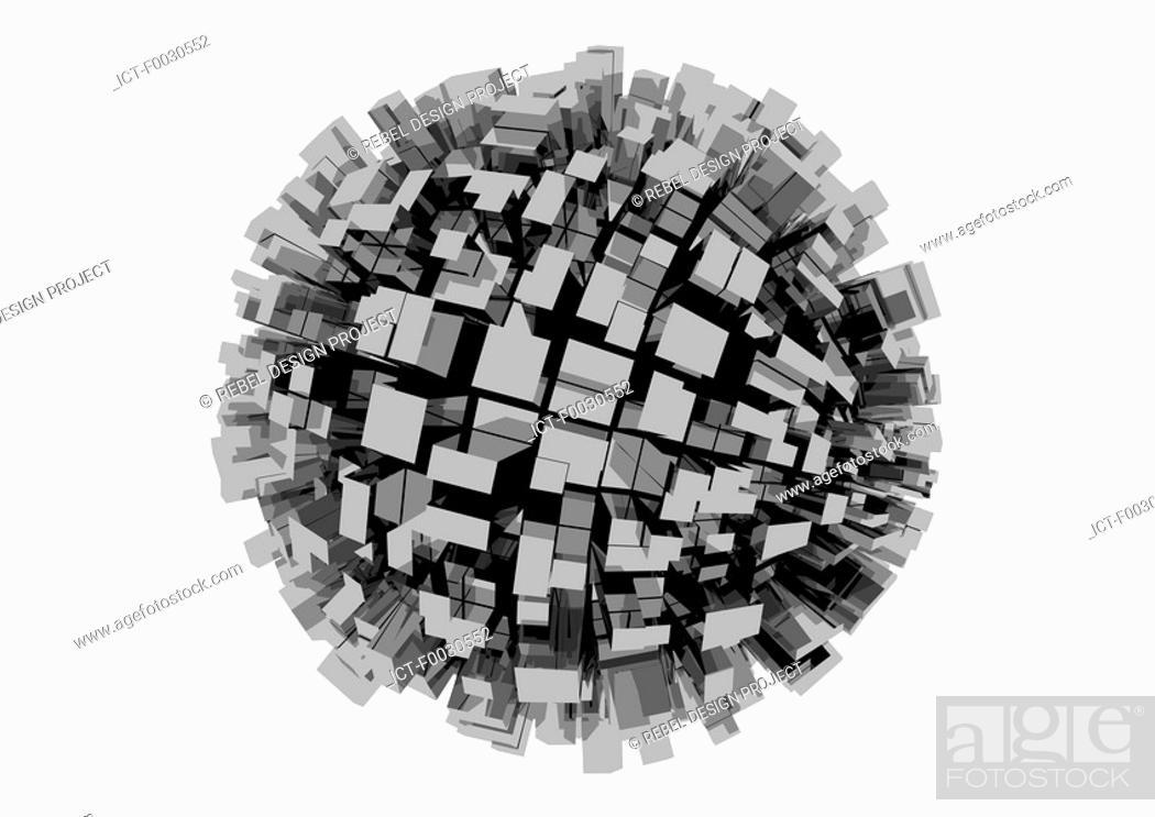 Stock Photo: Digital creation: geometry.