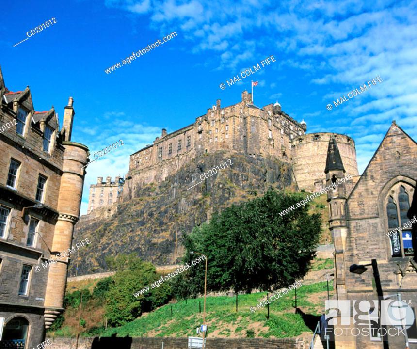 Stock Photo: Edinburgh Castle. Scotland.