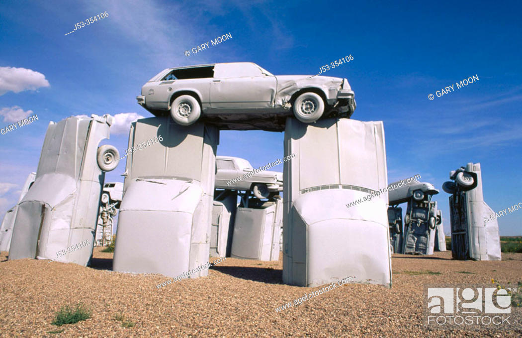 Stock Photo: 'Carhenge' sculpture. Alliance, Nebraska. USA.