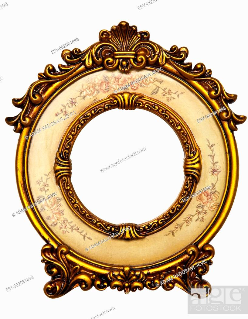 Stock Photo: Old Gold Frame.