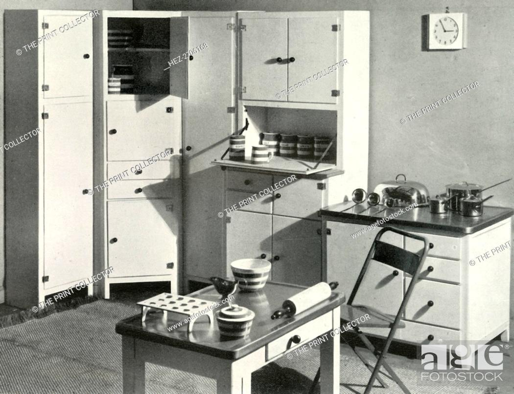 Kitchen Furniture By Heal S London 1937 Creator Unknown Stock Photo Picture And Rights Managed Image Pic Hez 2706168 Agefotostock