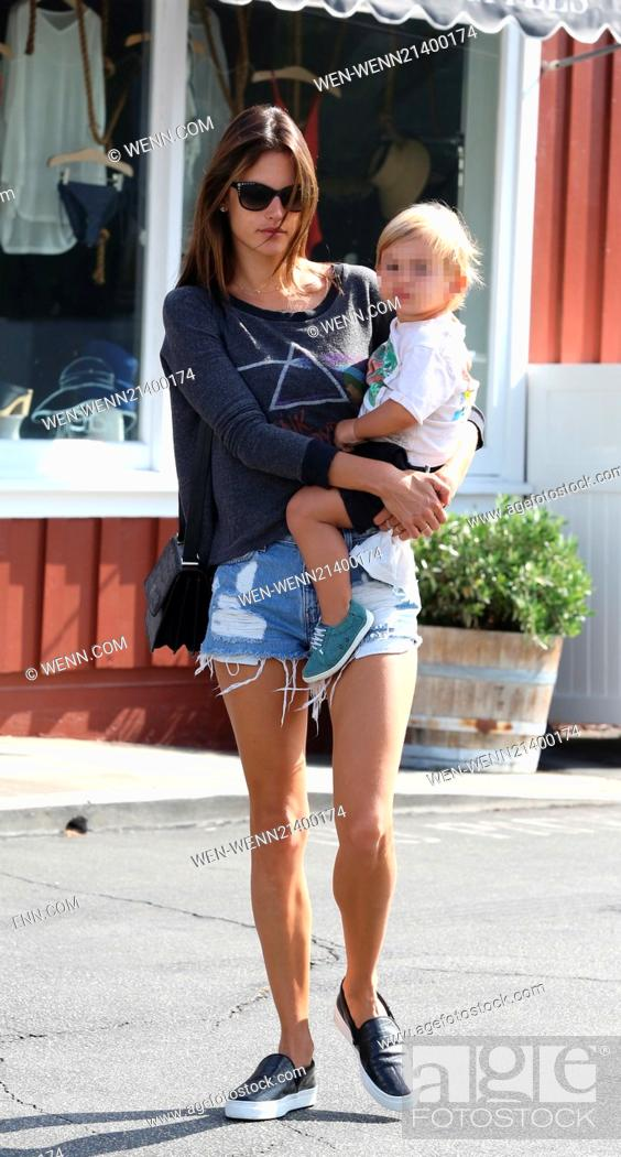Alessandra Ambrosio Out And About With Son Noah Featuring