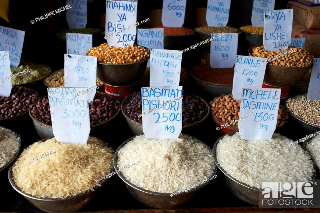 Stock Photo: Tanzania, Zanzibar island, Unguja, Stone Town, unesco world heritage, the market.