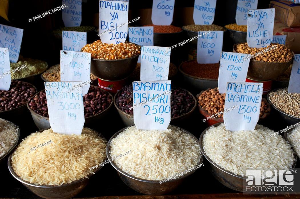 Stock Photo: Tanzania, Zanzibar island, Unguja, Stone Town, unesco world heritage, the market.