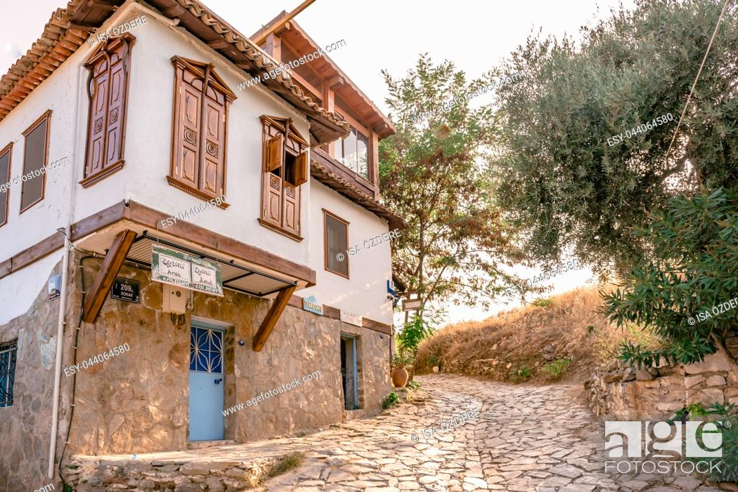 Stock Photo: View of traditional Houses at Sirince Village, a popular destination in Selcuk, Izmir, Turkey. 21 August 2017.