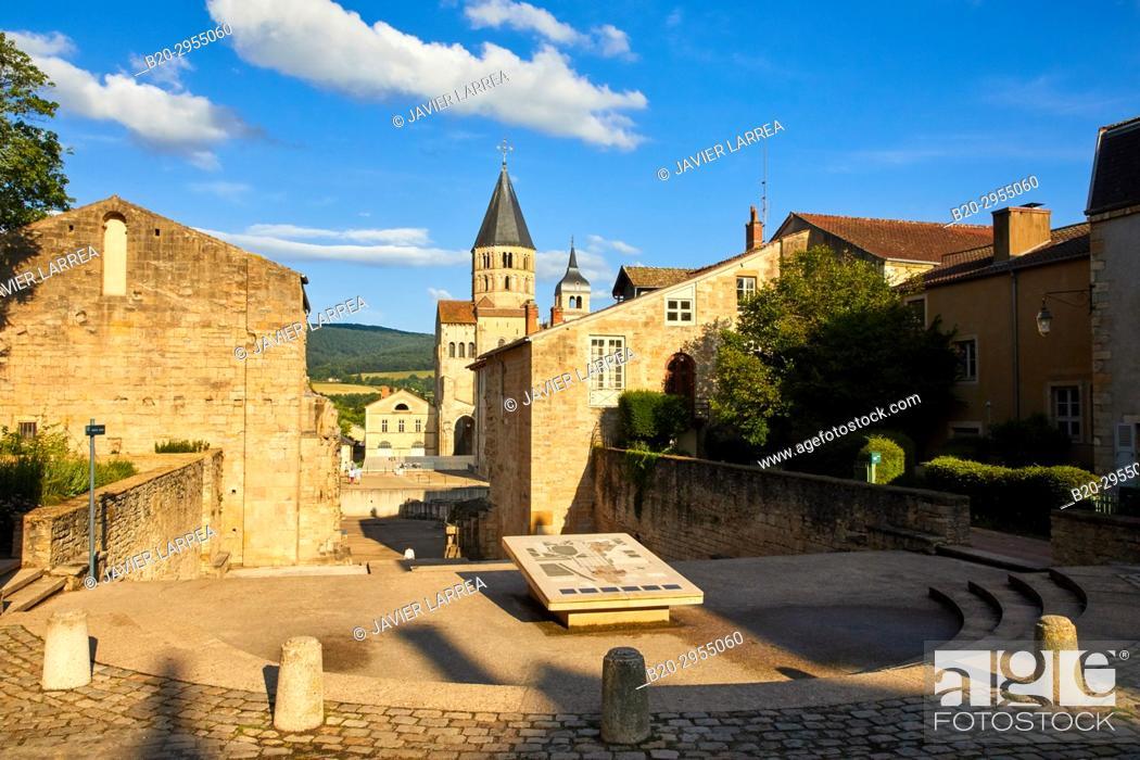 Stock Photo: Cluny Abbey, Cluny, Saone-et-Loire Department, Burgundy Region, Maconnais Area, France, Europe.