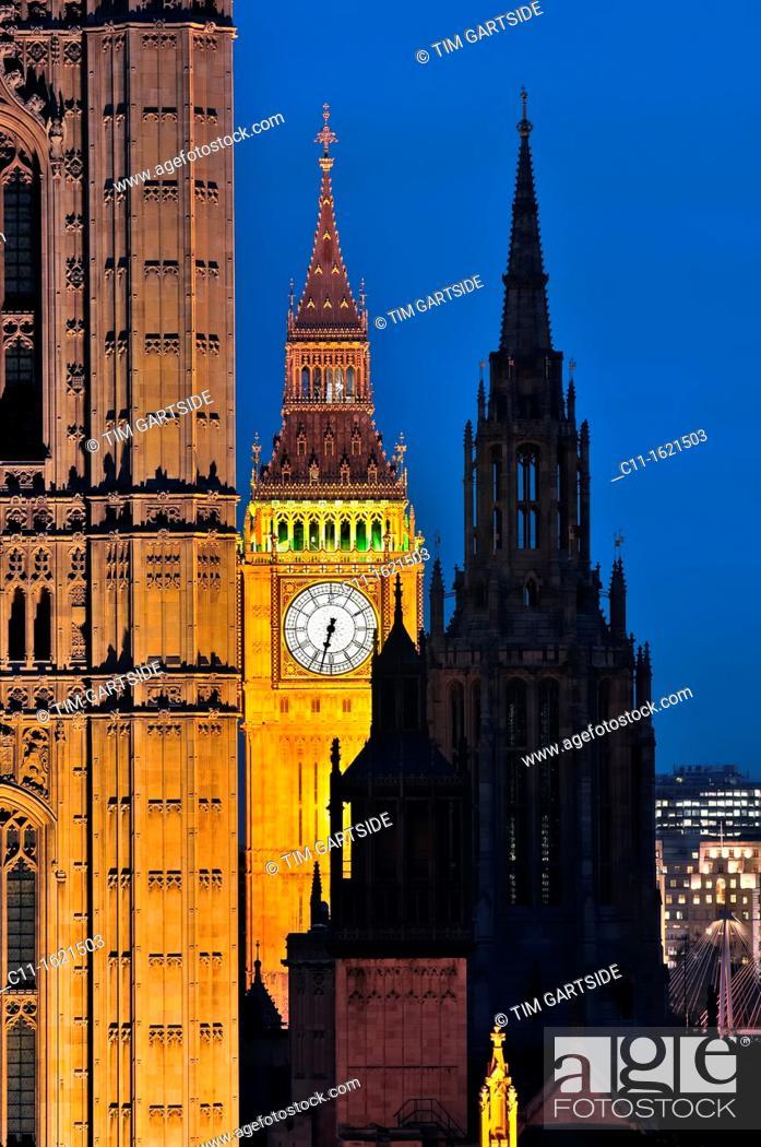 Stock Photo: Big Ben, london, Houses, Parliament, Westminster, London, England, UK.