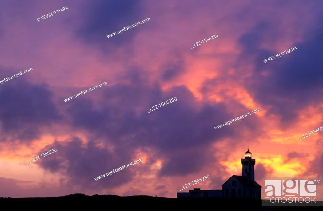 Stock Photo: Overview of La Pointe des Poulains. Island of Belle-île-en-Mer. Morbihan department. Brittany province. Atlantic coast. France.