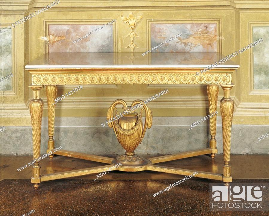 Wall table (tavolo da muro), by parmensan manifactory, 18th Century ...
