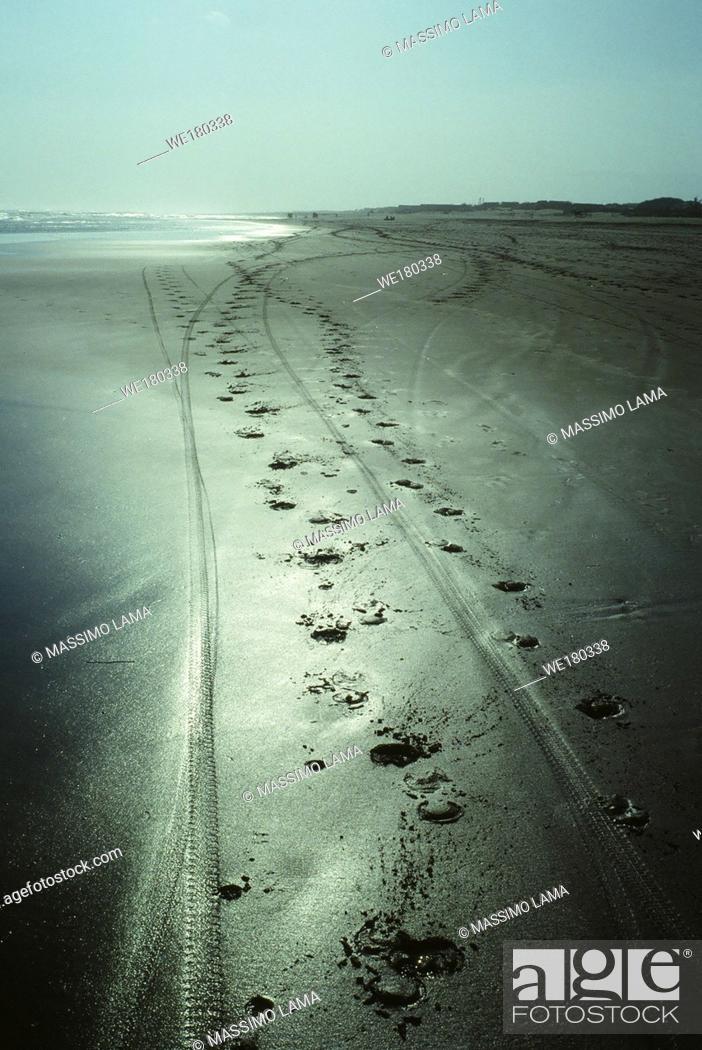 Stock Photo: Panangritis beach, near Yogyakarta.