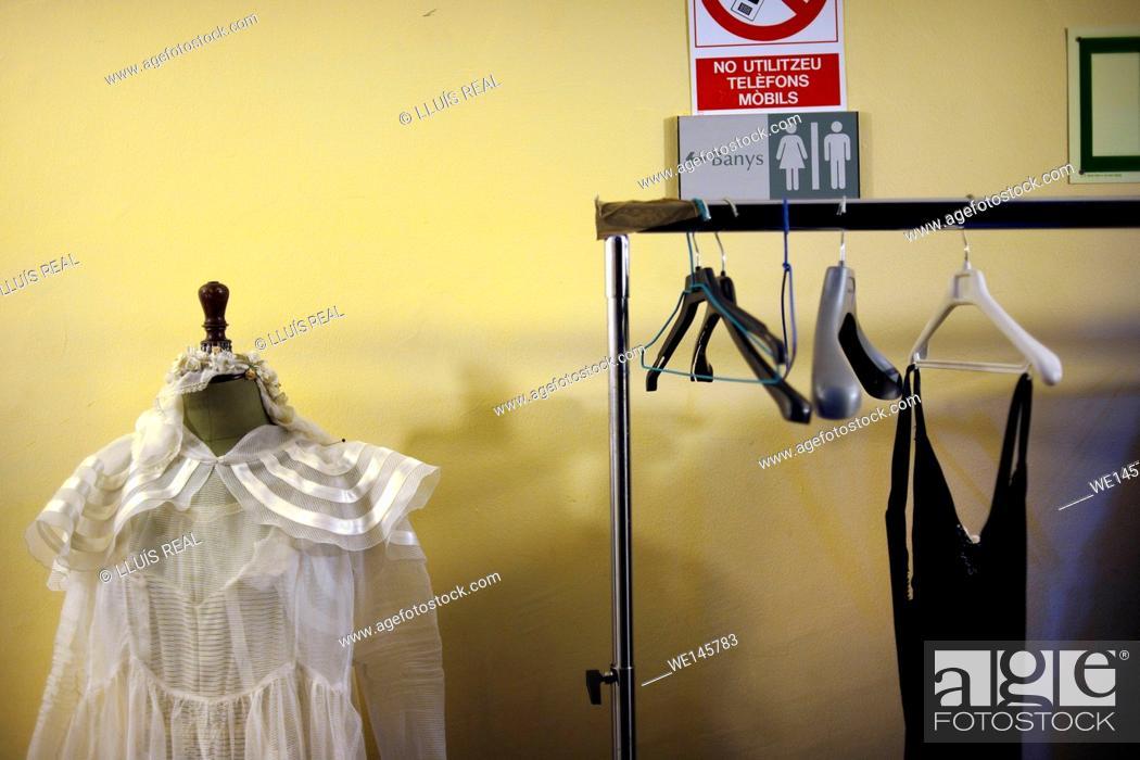 Stock Photo: Clothes rack.