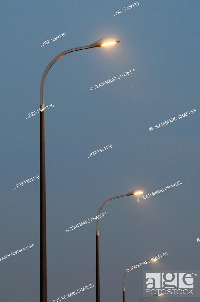 Stock Photo: Public lighting, Vélizy-Villacoublay,Yvelines department, Ile-de-France, western suburbs of Paris, France.