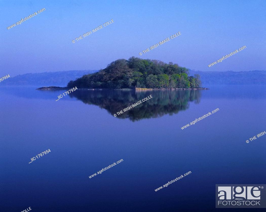 Stock Photo: The Island of Inisfree, From W.B. Yeats Poem, Lough Gill, Co Sligo, Ireland.