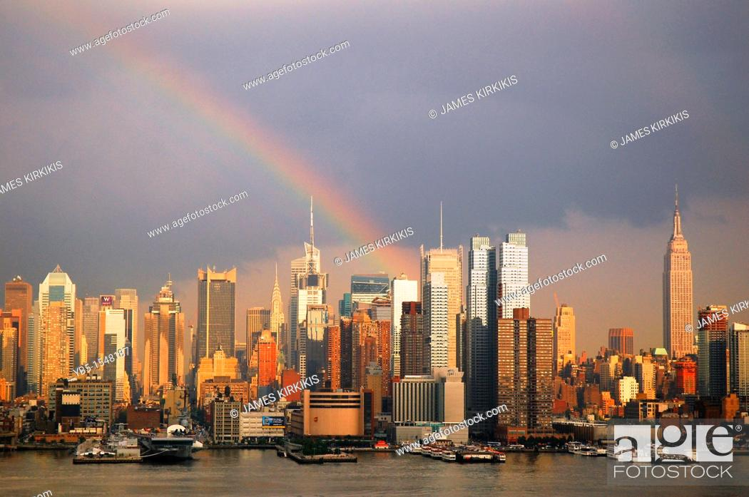 Stock Photo: Clearing Storm, Manhattan.