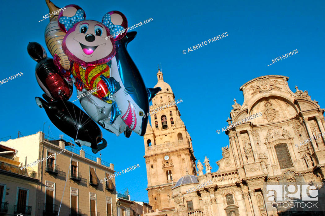 Stock Photo: Cathedral. Murcia. Spain.
