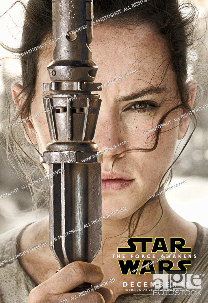 "Stock Photo: """"""Star Wars: Episode VII - The Force Awakens"""" (2015) Rey character poster (Daisy Ridley) © 2015 Lucasfilm."