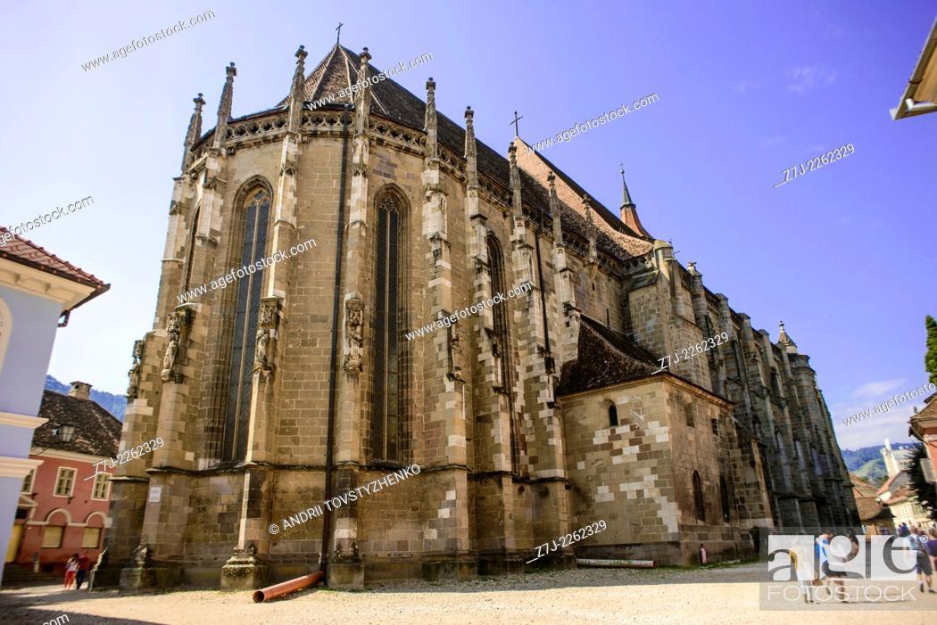 Stock Photo: Black Church in Brasov.
