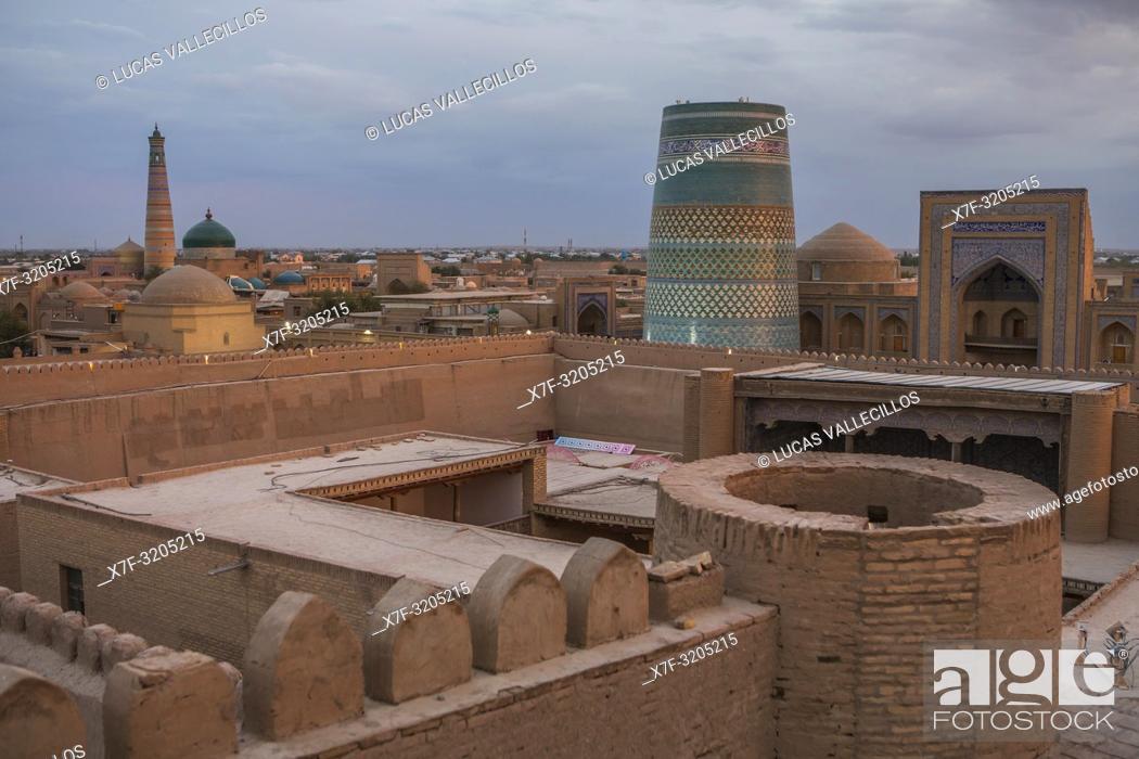 Stock Photo: Skyline of Khiva, Uzbekistan.