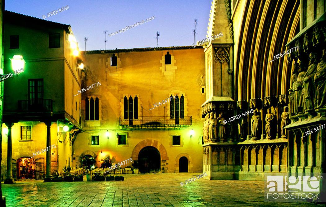 Stock Photo: Cathedral. Tarragona, Catalonia. Spain.