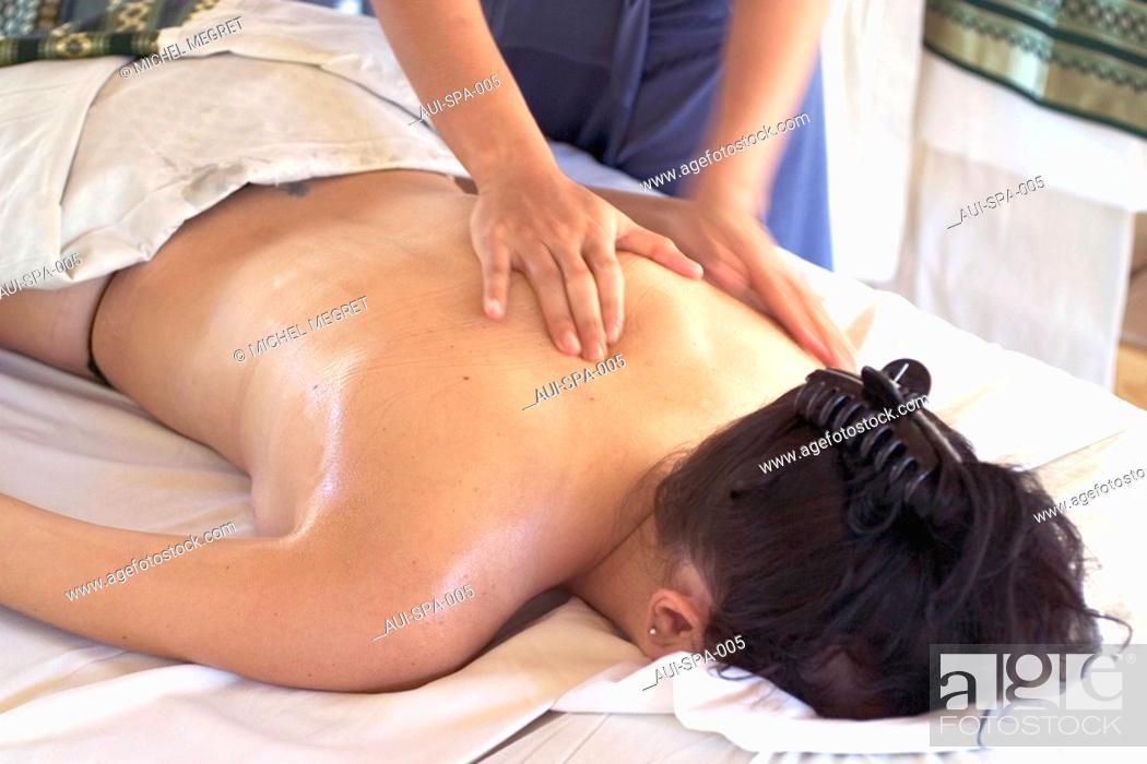 Stock Photo: Spa - Body massage.