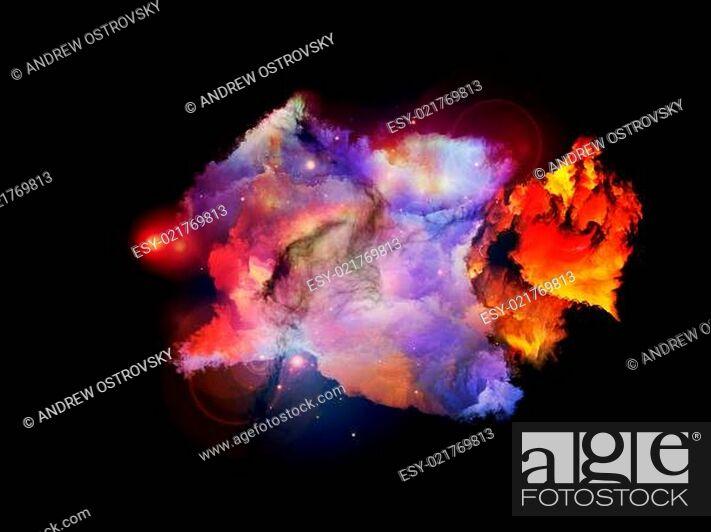 Stock Photo: Petals of Design Nebulae.