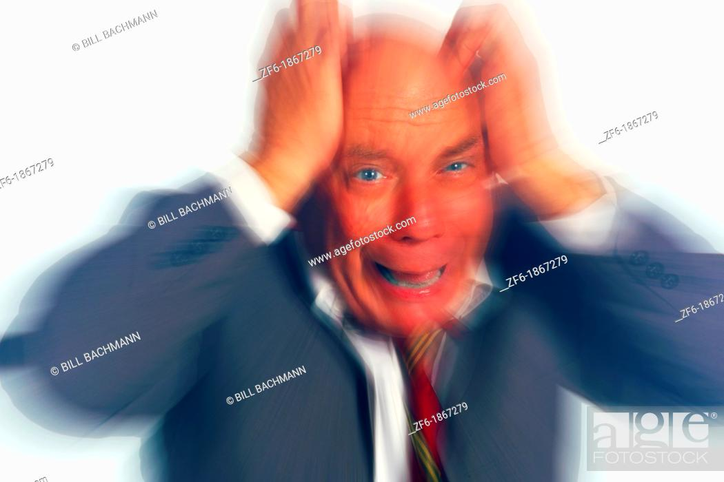 Stock Photo: Closeup of Frustrated Stressed Businessman.