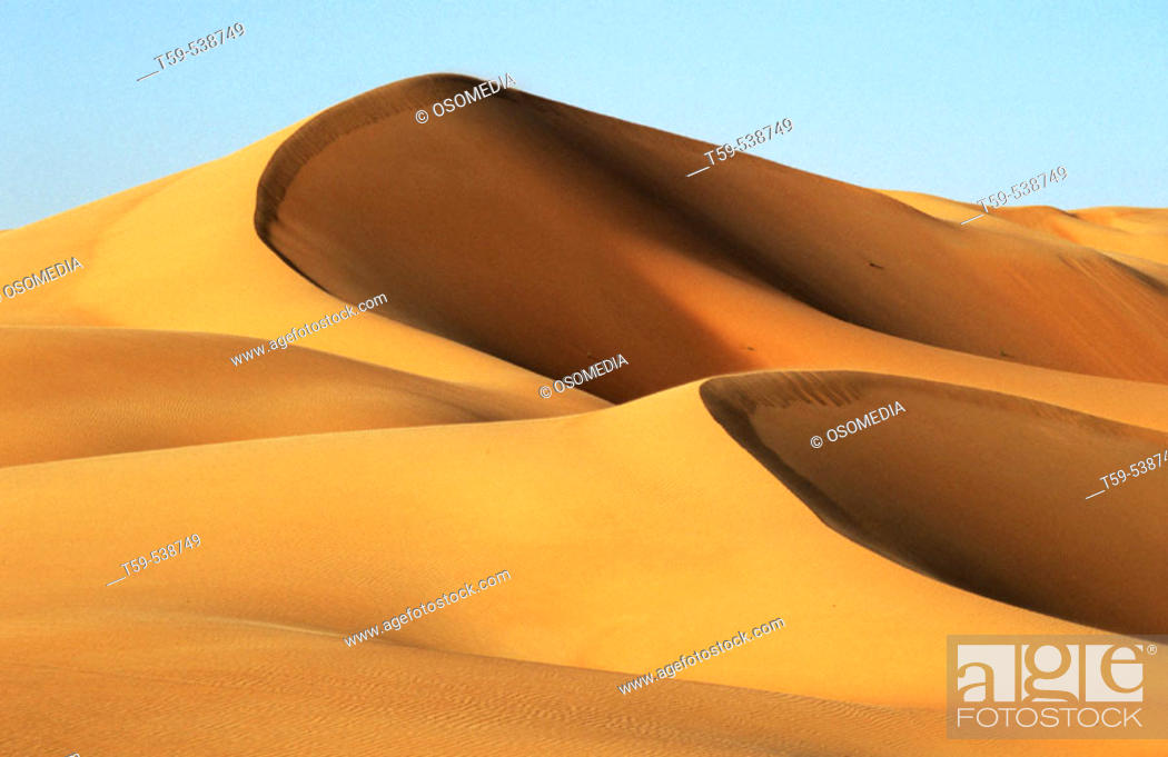 Stock Photo: Liwa oasis in the desert. UAE (April, 2005).
