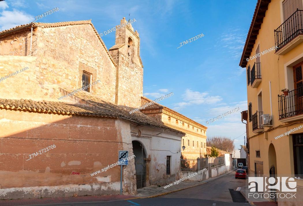 Stock Photo: Monasterio de Nuestra Señora de Gracia Monastery, San Clemente, Cuenca province, Castile la Mancha, Spain. Historic and Artistic Heritage.