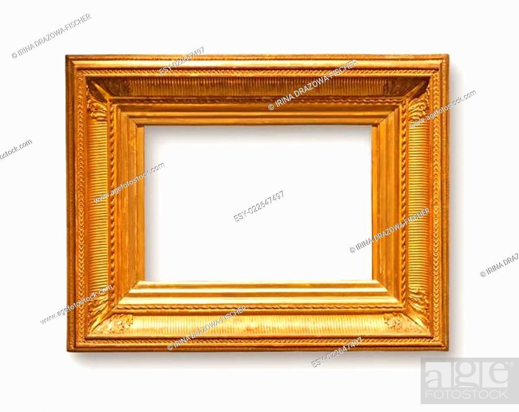 Stock Photo: Gold Frame.