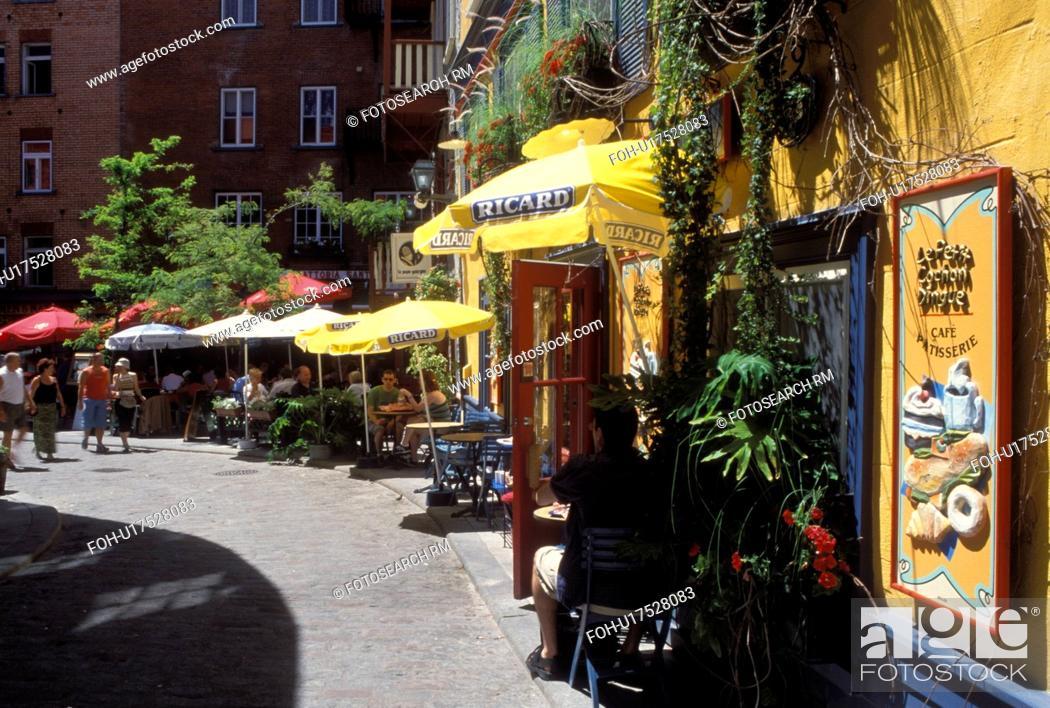 Quebec City Canada Quebec Outdoor Caft And Restaurant At Quartier