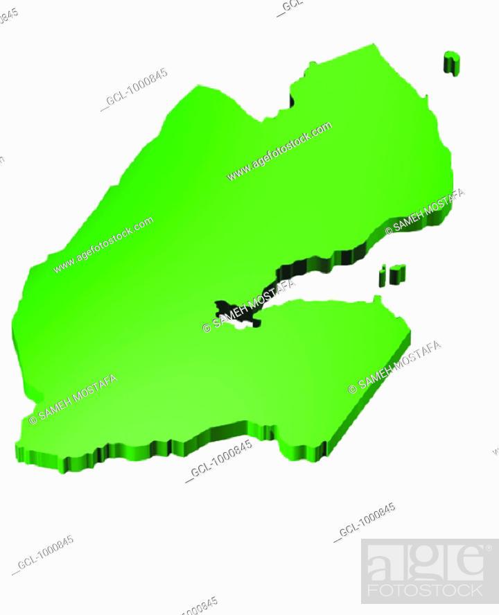 Stock Photo: map of Djibouti.