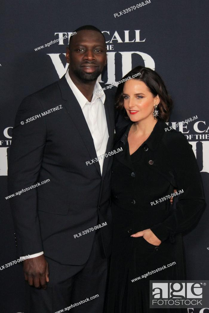 """Stock Photo: Omar Sy, Helene Sy at """"""""The Call Of The Wild"""""""" World Premiere held at El Capitan Theatre in Los Angeles, CA, February 13, 2020."""