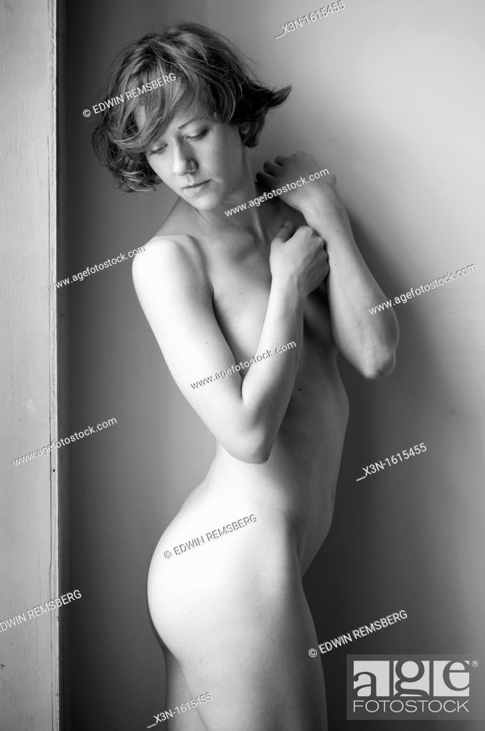 Stock Photo: Monochrome of nude female.