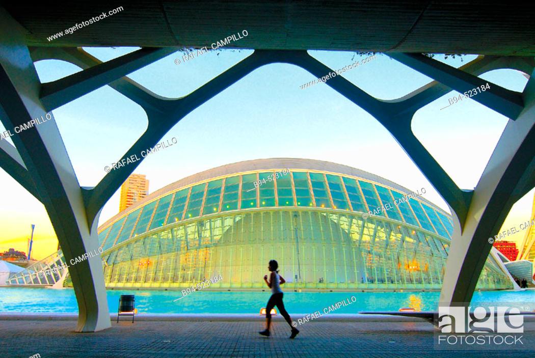 Stock Photo: City of Arts and Sciences by S. Calatrava. Valencia, Spain.