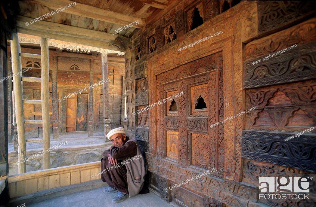 Stock Photo: Pakistan, Hunza valley, Ganesh village, Rupee Kutz mosque.