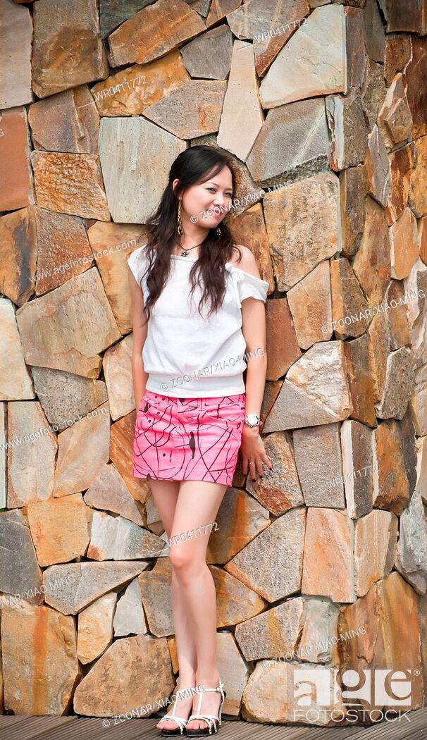 Stock Photo: asian woman tooth smile.