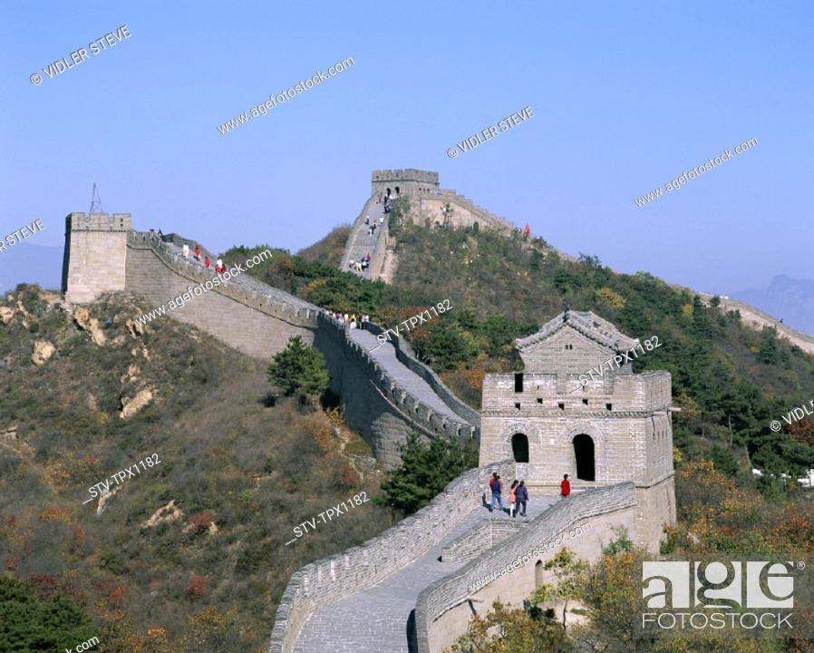 Stock Photo: Asia, Badaling, Beijing, Peking, China, Great Wall of China, Great Wall, Heritage, Holiday, Landmark, Tourism, Travel, Unesco, V.