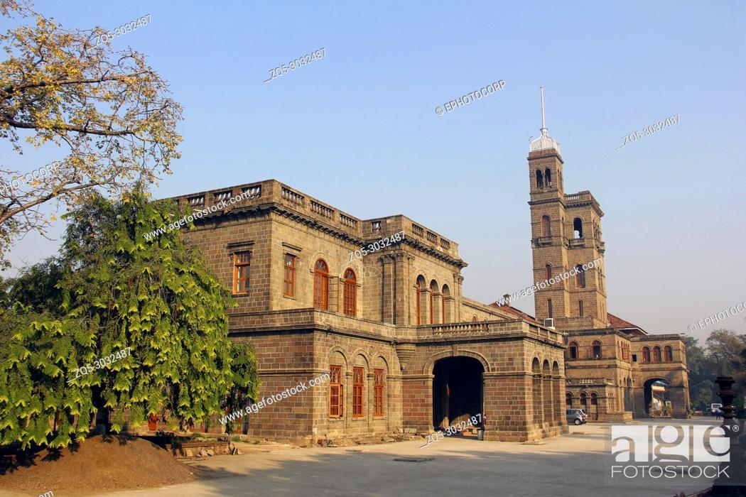 Stock Photo: Savitribai Phule Pune University, Main building at Pune.