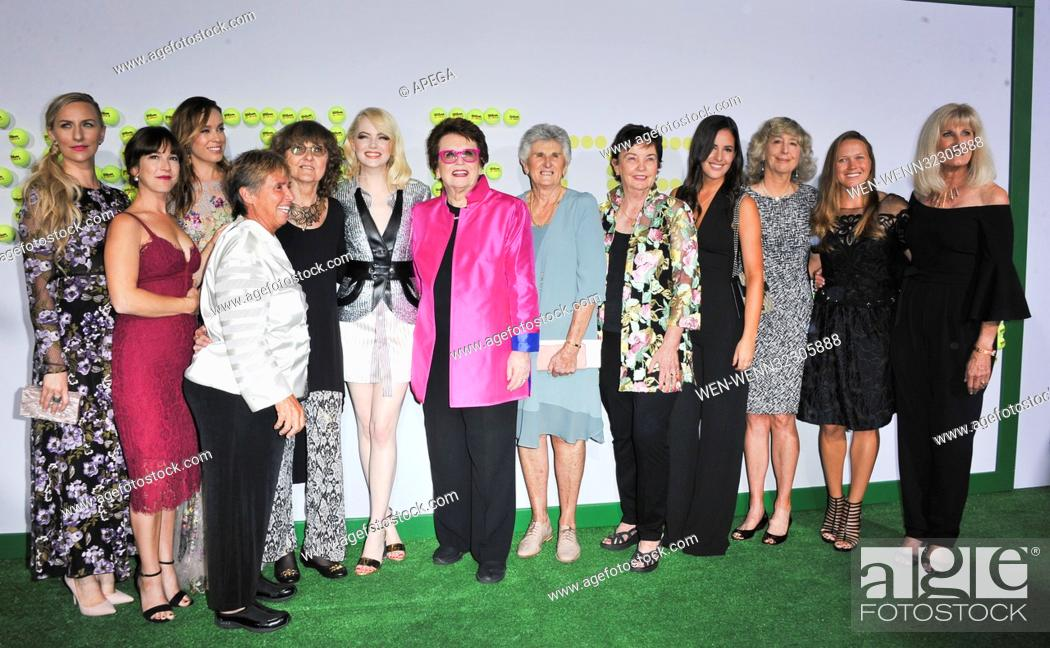 Photo de stock: Fox Searchlight's Los Angeles Premiere of 'Battle of the Sexes' - Arrivals Featuring: Martha Macisaac, Jessica McNamee, Emma Stone, Billie Jean King.
